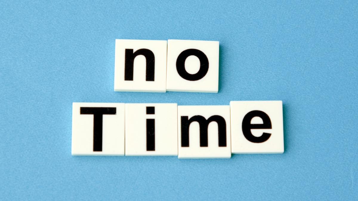 Por qué me dice que no tiene tiempo #sersiendo